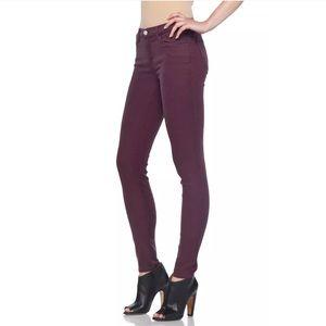 J Brand Jeans Super Skinny Burgundy 26